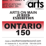 ONTARIO 150 ARTS ON MAIN JURIED EXHIBITION