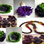 HOW TO MAKE FELTED FLOWERS AND BEADS by Gn