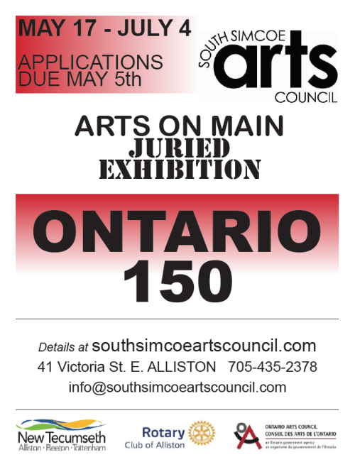 Awards Announced for Ontario150 ARTS ON MAIN JURIED SHOW