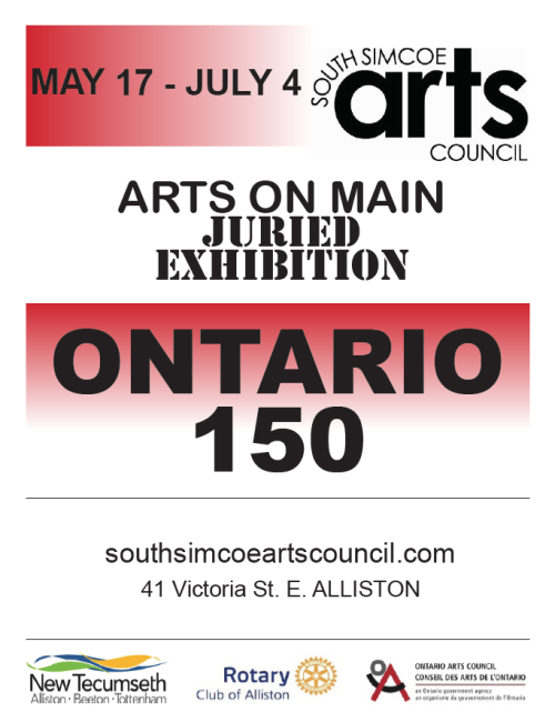 ARTS ON MAIN ONTARIO 150 JURIED EXHIBITION