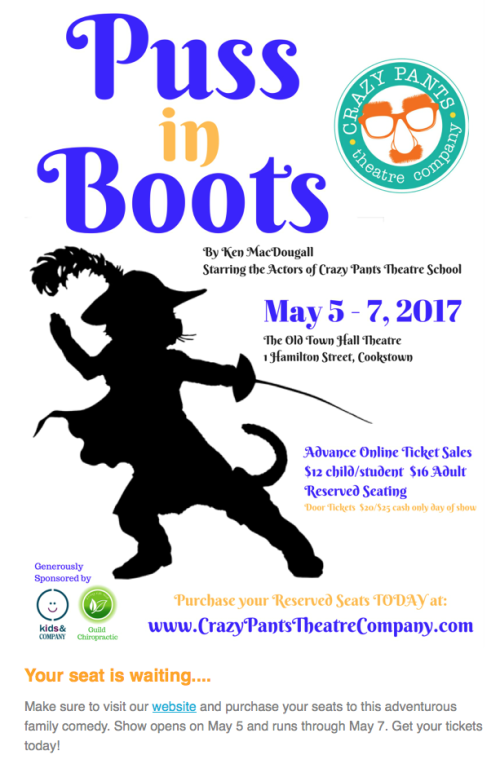 Puss in Boots - Get your tickets today!