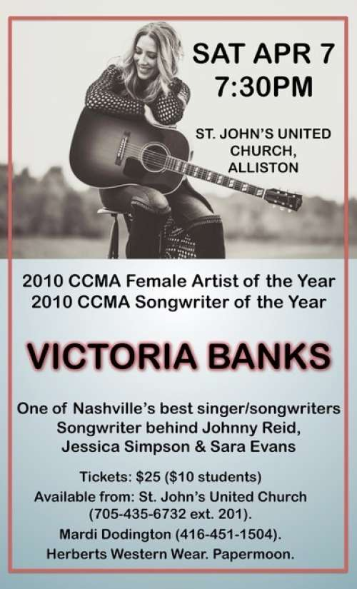 Victoria Banks Award winning Country Music Star  sc 1 st  South Simcoe Arts Council & South Simcoe Arts Council - Victoria Banks: Award winning Country ...