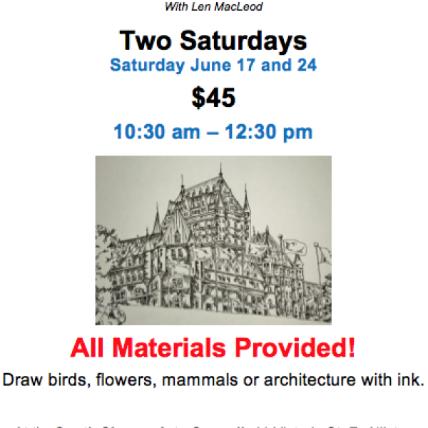 Two Saturdays: DRAWING WITH INK with Len MacLeod