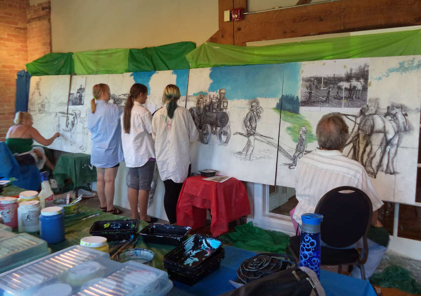 Students and Emerging Artists, Mural Art Project - Day 4