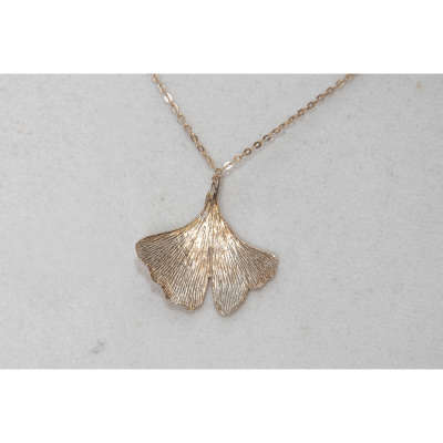 necklace - ginkgo leaf