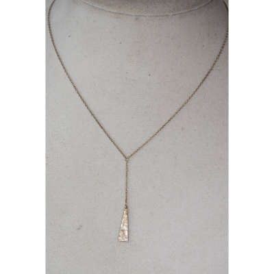 necklace - lariat triangle pendant