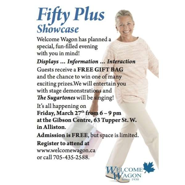 FIFTY PLUS SHOWCASE  FRIDAY MARCH 27; 6-9:00PM