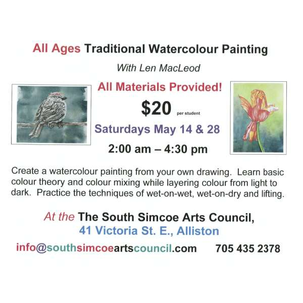All Ages Traditional Watercolour Painting