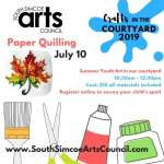 Quilling in the Courtyard - Recommended Ages 7 - 14