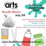 Doodle Mania in the Courtyard - Recommended Ages 7 - 14