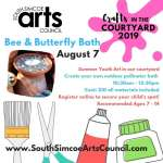 Bee & Butterfly Bath in the Courtyard - Recommended Ages 7 - 14