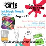Ink Magic in the Courtyard      - Recommended Ages 7 - 14