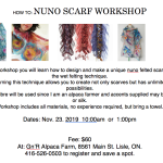 Nuno Scarf Workshop at G