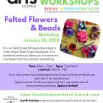 Felted Flowers & Beads  - 14 to Adult