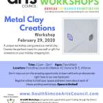 Metal Clay Creations   - Age 10** to Adult