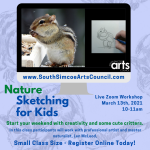 Nature Sketching for Kids via Zoom