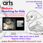 Nature Sketching for Kids via Zoom [May] - Kids