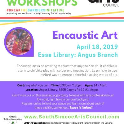 Encaustic Art Workshop - Angus - Age 14 to Adult