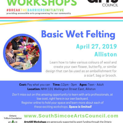 Basic Wet Felting - Alliston - Teen - Adult