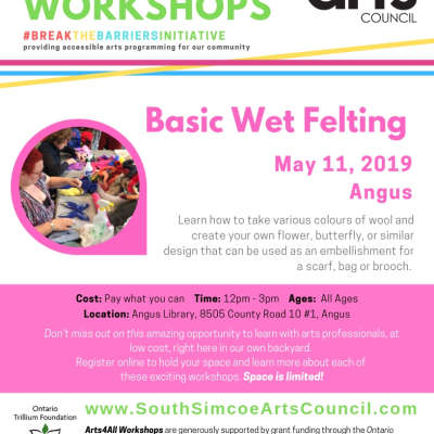 Basic Wet Felting - Angus - Ages 12 to Adult
