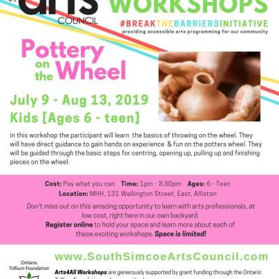Pottery on the Wheel  - Kids Ages 6 to Teen