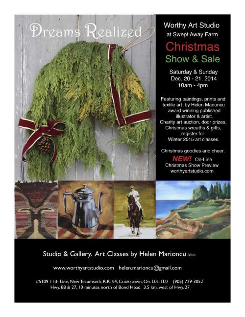 Dreams Realized, Worthy Art Studio Christmas Show and Sale