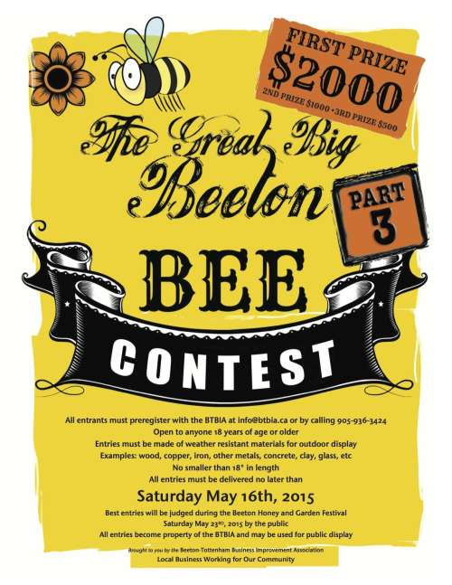 THE GREAT BIG BEETON BEE  CONTEST, PART THREE!