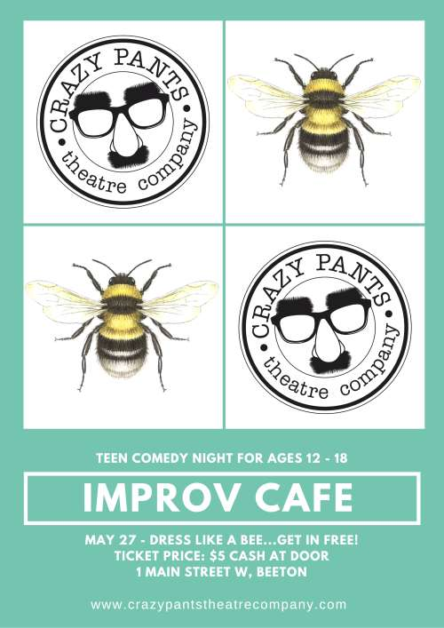 Improv Cafe Night - Dress Like a Bee...Get in FREE!