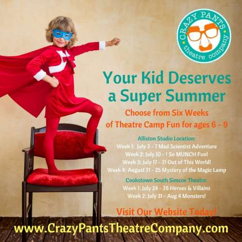 Crazy Pants Theatre Company this Summer!