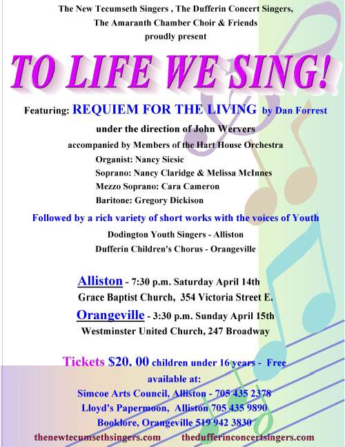 *NEW DATE* To Life We Sing