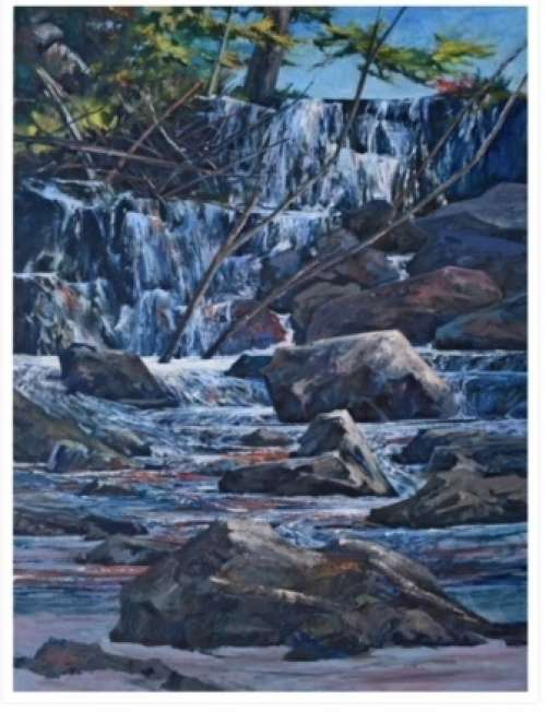 Painting The Rocks & Water in the Ontario Landscape