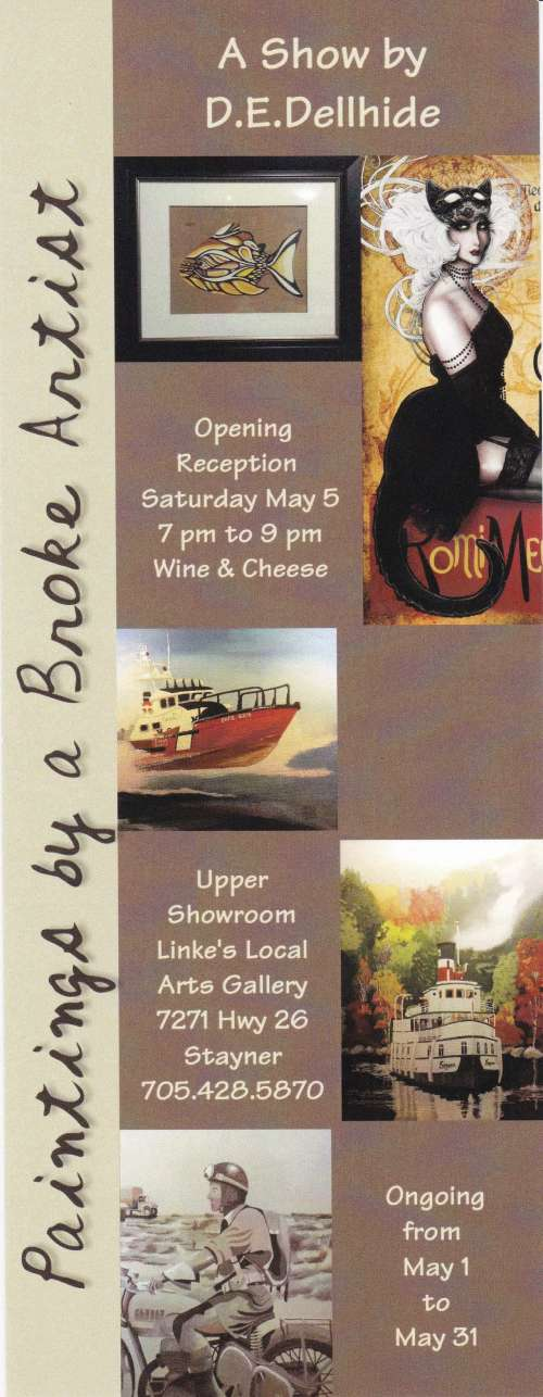 Paintings by a Broke Artist, Opening Reception
