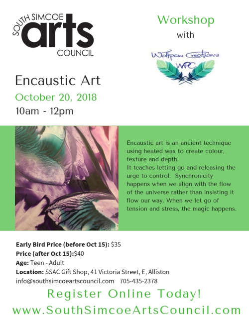 Encaustic Art with Wolfpaw Creations