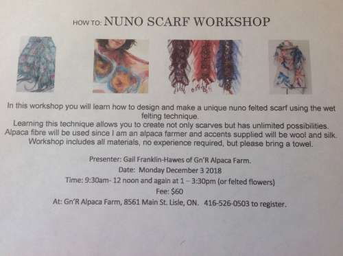 Nuno Felting Workshop (afternoon session)