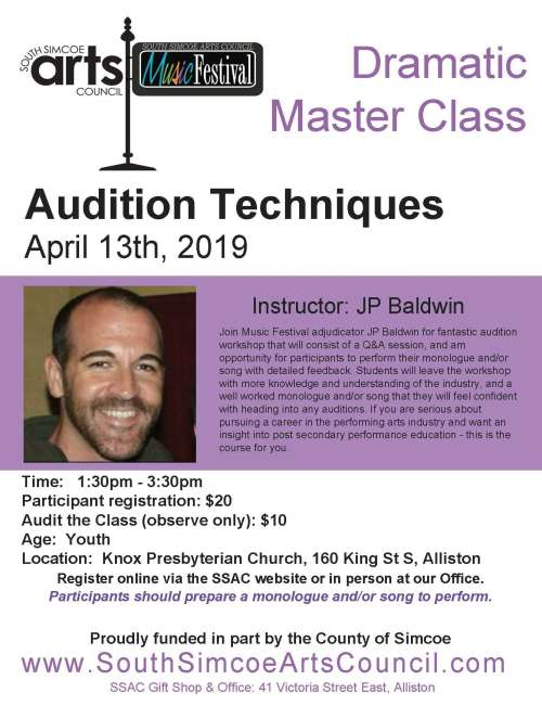 Master Class Series: Dramatic Audition Techniques