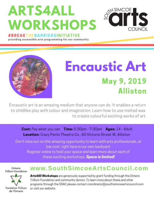 Encaustic Art Workshop - Alliston