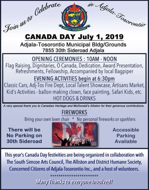 Canada Day Celebrations at Adjala Tos