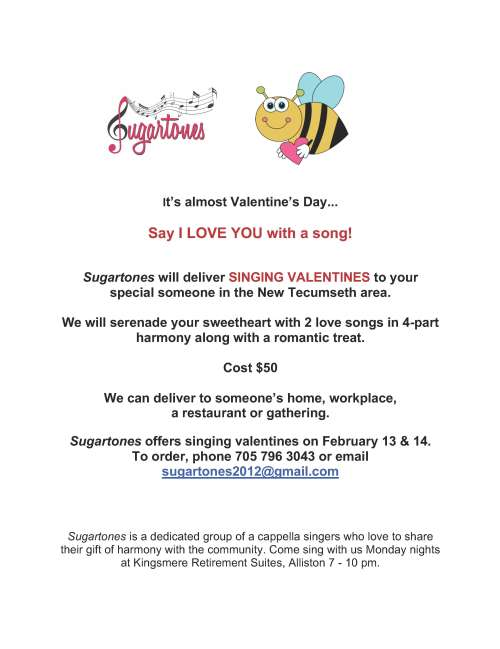 Order a Singing Valentine for your sweetheart