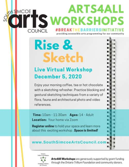 Rise & Sketch - Live Virtual Drawing Workshop