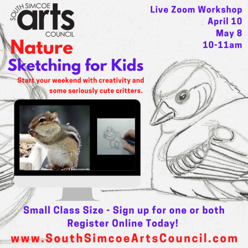 Nature Sketching for Kids via Zoom [May]