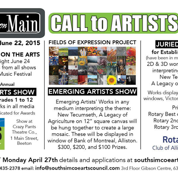 Fields of Expression Projects for Emerging Artists and Juried Show for Experienced Artists