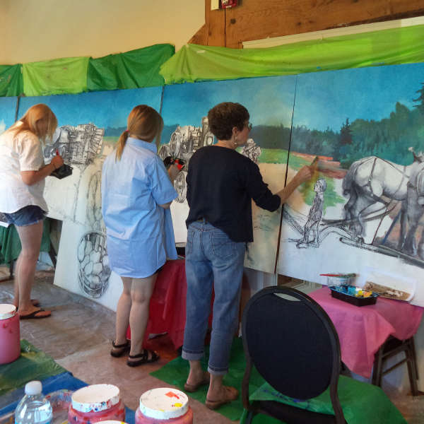 Mural Art Project, Students and Emerging Artists - Day 5