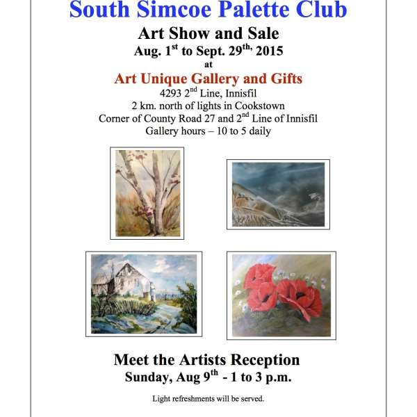 South Simcoe Palette Club Art Show