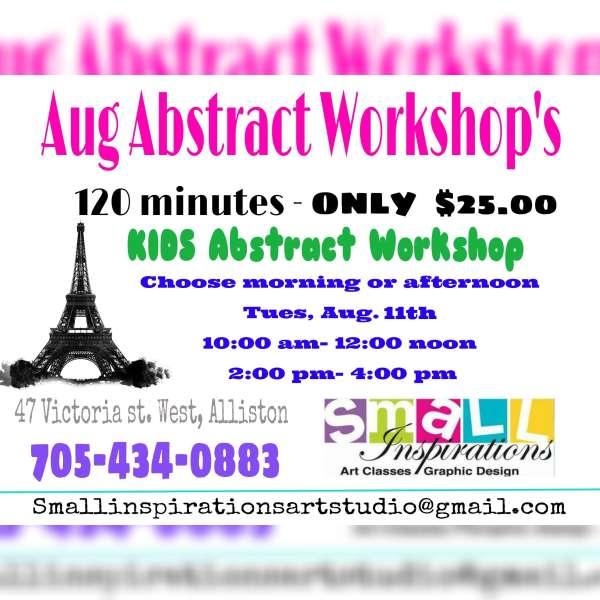 Abstract Painting workshop for kids