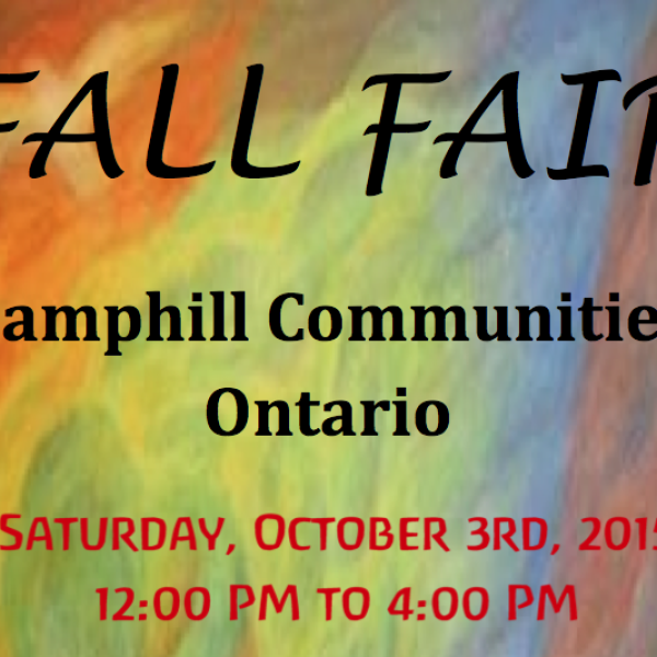 Saturday, October 3, 2015 at Camphill Fall Fair