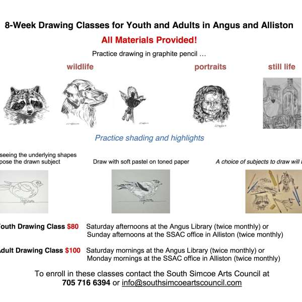 Drawing Workshops for Youth and Adults