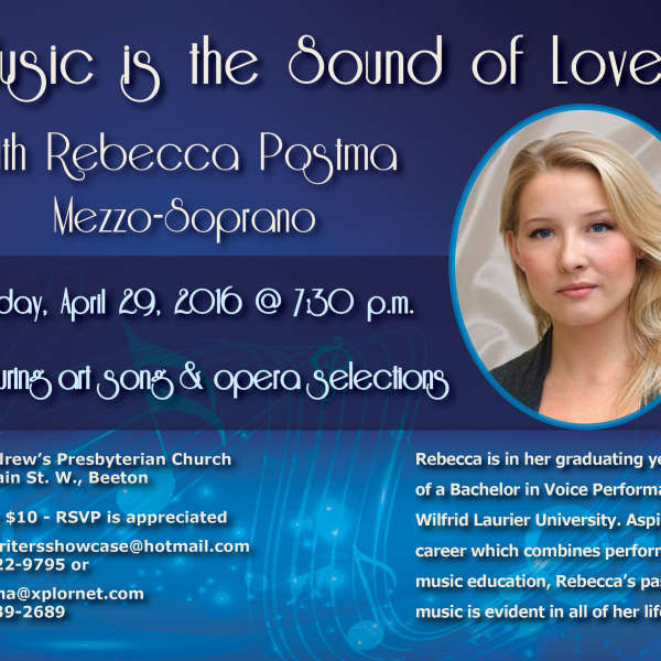 Music is the Sound of Love with Mezzo-Soprano Rebecca Postma