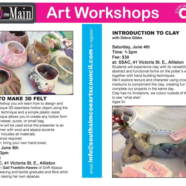 Clay and Felting Workshops
