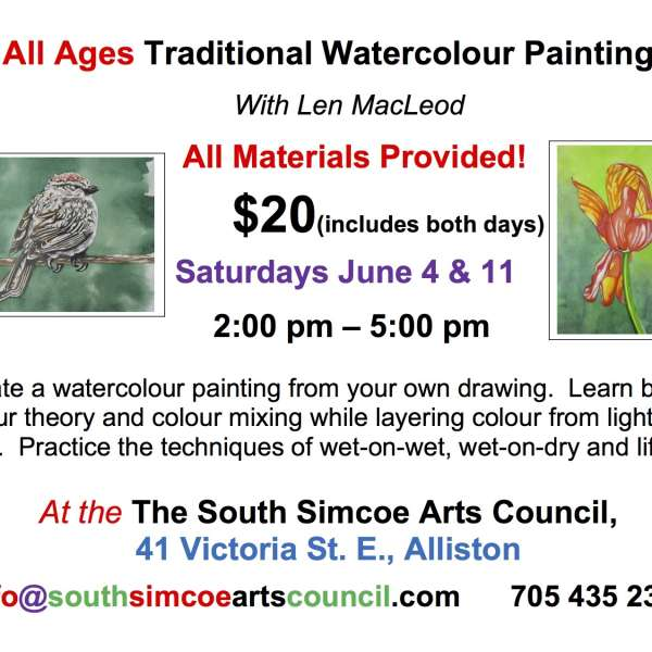 2 Day All Ages Watercolour Painting - June 4 & 11