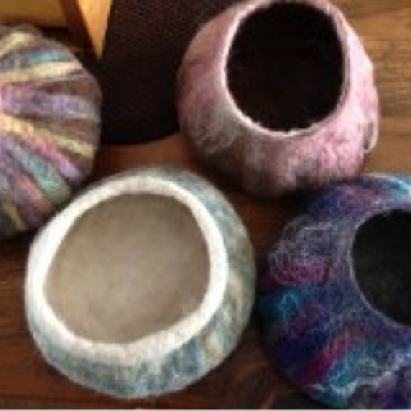 HOW TO MAKE 3D FELTED VESSELS